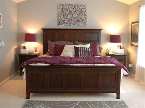 purple bedroom with black furniture purple gray room with wood furniture bedroom 19553