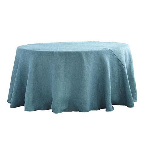 burlap dusty blue tablecloth