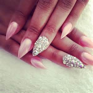 Pink pointy nail designs nails via