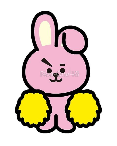 quot bts bt21 cooky jungkook quot art prints by red one48 redbubble