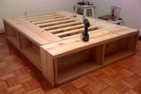 california king platform bed platform bed plans diy with storage drawers king size