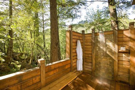 Outdoor Shower Bamboo Themed Bathroom