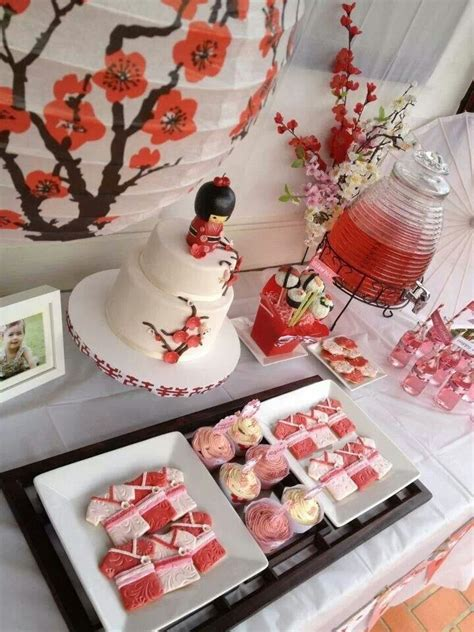 japanese sakura cherry blossom themed birthday