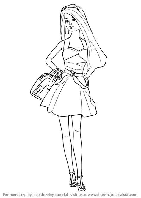 learn   draw  barbie doll barbie step  step