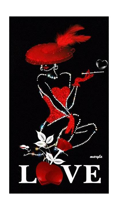 Animated Lady Animation Gifs Valentines Heart Celular
