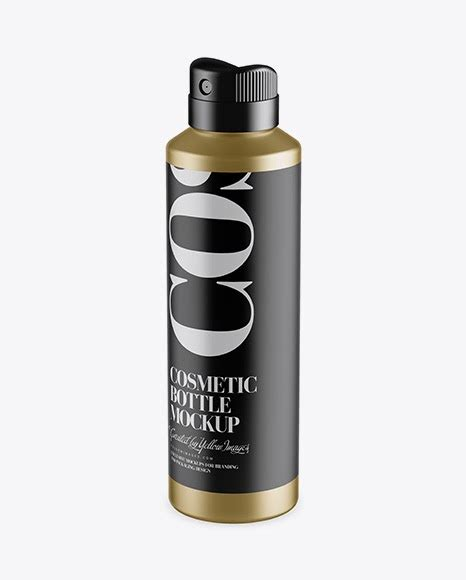 We see tons of things in markets which delivers specific facilities to the users to make their workloads more and easy and free of hassle. Metallic Spray Bottle Mockup - Half Side View (High-Angle ...