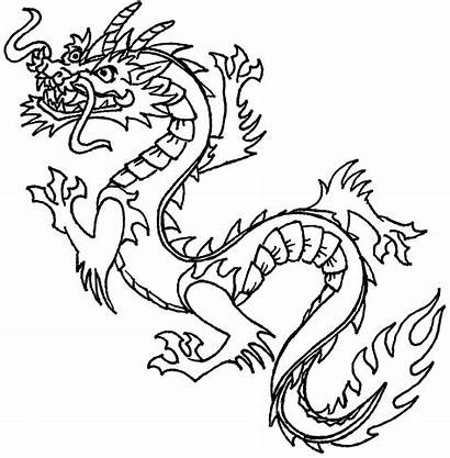 Dragon Chinese Clipart Kid Coloring Face Drawing
