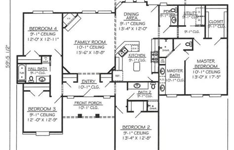 level single story mediterranean house plans garage side