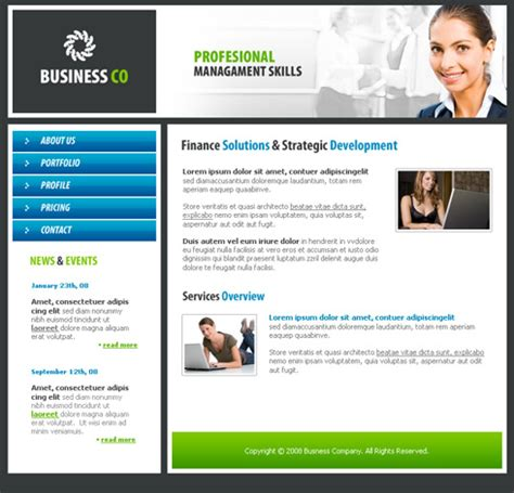 business network website template  business