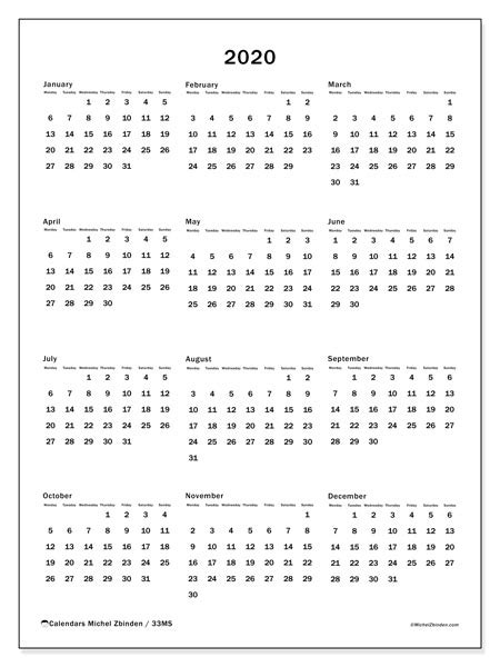 annual calendars ms michel zbinden en