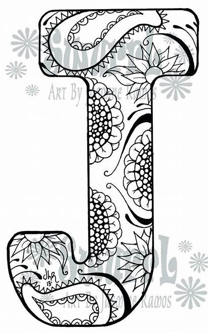 Coloring Pages Letter Adults Printable Getcolorings Getdrawings