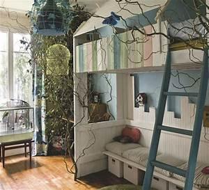 Cabane Chambre Enfant : chambre d 39 enfant 4 am nagements avec mezzanine cabane c t maison ~ Teatrodelosmanantiales.com Idées de Décoration