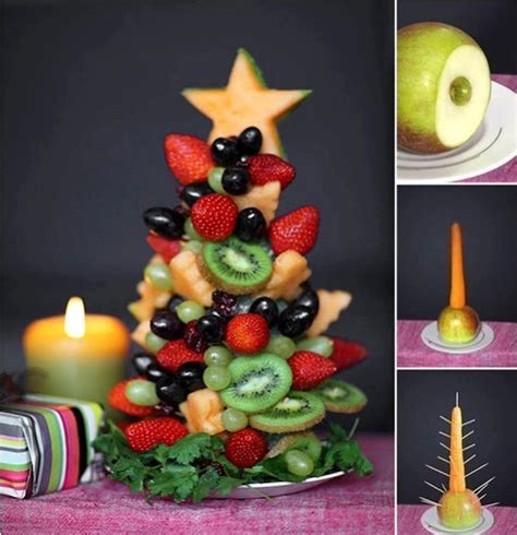 fruit christmas tree awesome thing to try at home on
