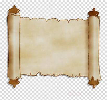 Scroll Clipart Background Brown Transparent Clip Clipground