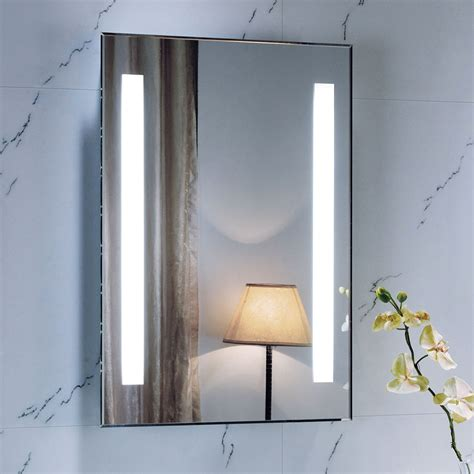 700 x 500 backlit bathroom mirror wall mounted demister