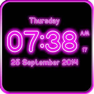 Neon Digital Clock LWP Android Apps on Google Play