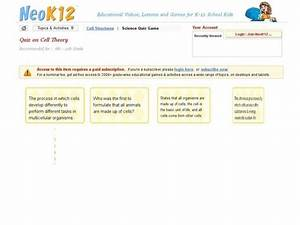 Quiz On Cell Theory Interactive For 6th