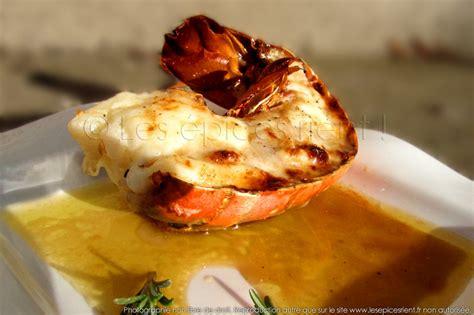 cuisine langouste plancha queue de langouste grillée au four sauce au vieux pineau