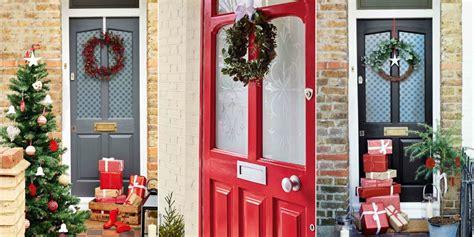 ways  decorate  front door  christmas
