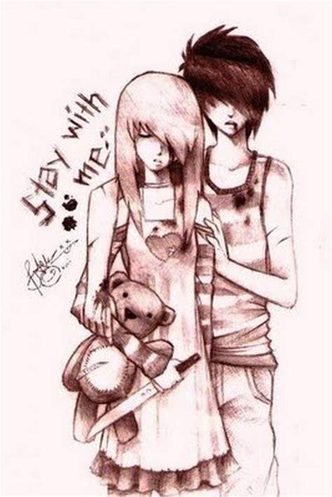 emo couple emo fan art  fanpop