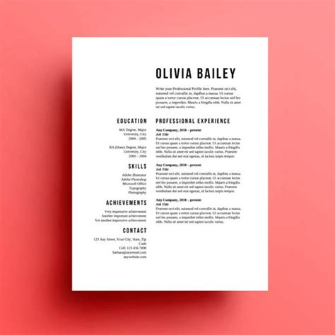Typography Resume Template by 8 Creative And Appropriate Resume Templates For The Non Graphic Designer Design Lists Paste