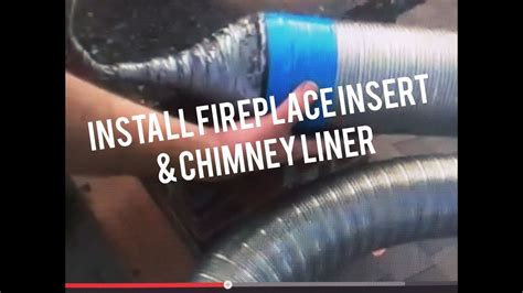 install fireplace insert liner  brick chimney