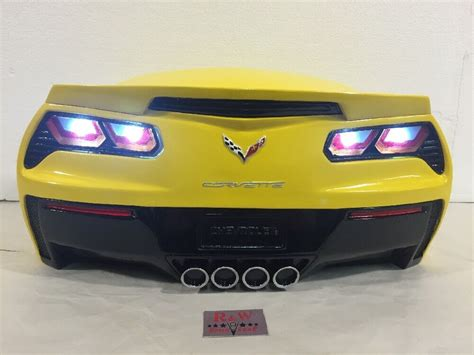 Corvette Lights by 2015 Yellow Corvette Stingray Z06 Wall Decor Rear End