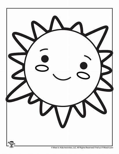 Sun Coloring Pages Printable Kawaii
