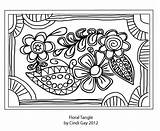 Rug Tangle Hooking Pattern Floral Hook Gay Coloring Tips Template Templates Cindi sketch template