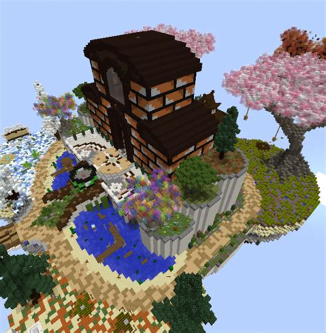 gameart skywars spawn minecraft project