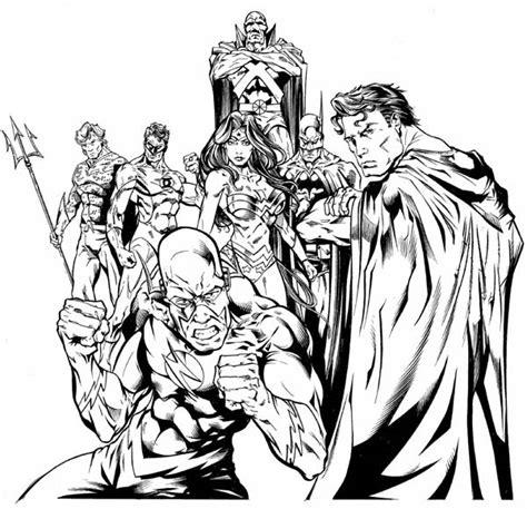 disegni da colorare della justice league awesome drawing of justice league coloring page netart
