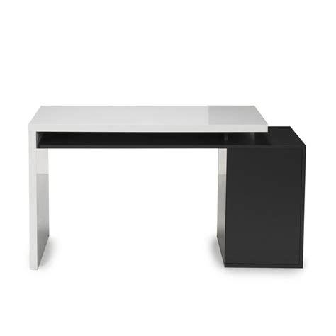 bureau alinea verre bureau style moderne avec caisson intégré blanc gris