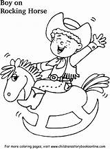 Rocking Coloring Books Horse Pages Boy sketch template