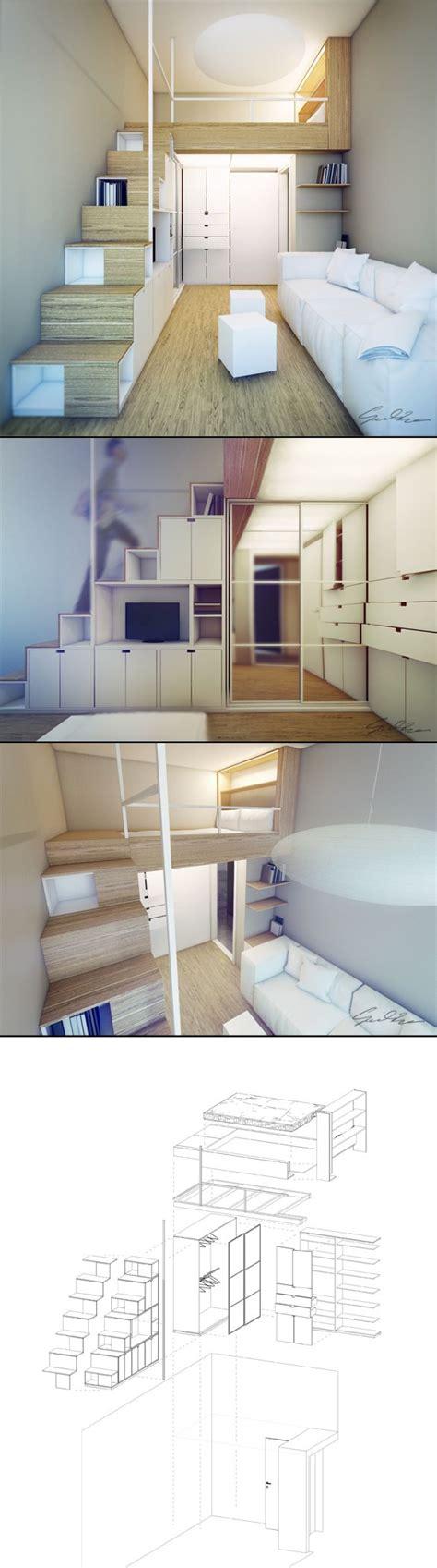 bureau sous escalier mezzanine pour chambre côté rue rangement sous dans