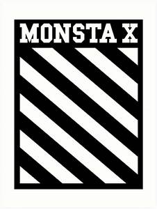 """Monsta X Off-White Inspired Logo"" Art Prints by"