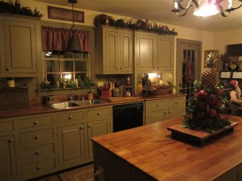 Green Cabinets, Cabinets And Primitive Kitchen On Pinterest