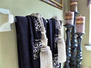 Attractive bathroom design fabulous kitchen towel holder for How to tie towels in bathroom