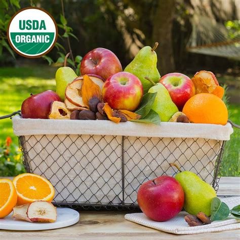 organic gift baskets simply organic fruit basket the fruit company