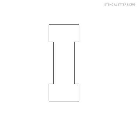 block letter i 12 best images about c stencils on free 43788