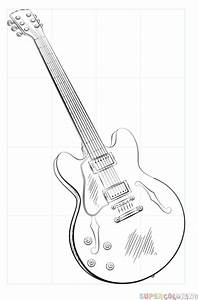 Drawn Guitar Gibson Guitar#3340917