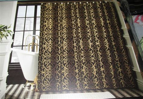 black and gold curtains bombay sarto shower curtain black gold damask 72 quot x 72 quot elegant bombay traditional