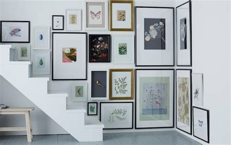 hang pictures  corners  stairs ikea