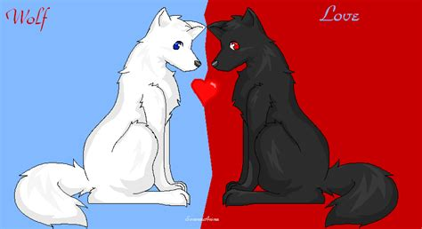 Cute Anime Wolves In Love Pictures To Pin On Pinterest