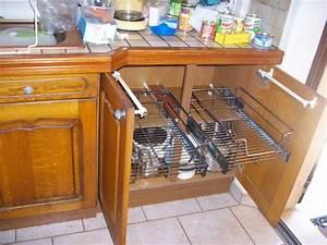 Rangement Tiroir Cuisine : tiroir coulissant pour placard cuisine cuisinez pour maigrir ~ Melissatoandfro.com Idées de Décoration