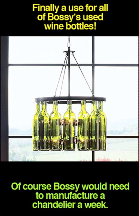 wine bottle chandelier alpha