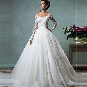 Vestido de novia 2016 cheap lace wedding dresses long for Wedding dresses with sleeves cheap