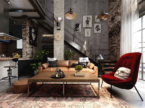 Rich Industrial Style Unites Colours With Exposed Brick Walls home designing rich industrial style unites colours