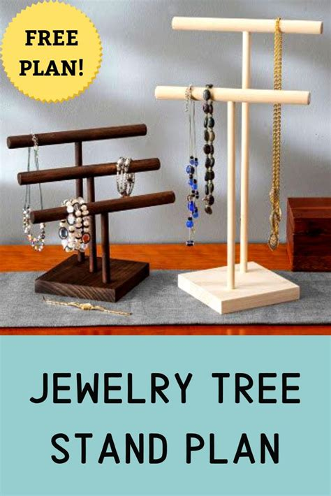 jewelry tree stand woodworking project  rockler