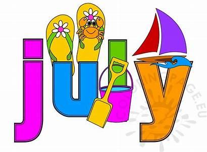 July Month Clipart Calendar National Picnic Arts