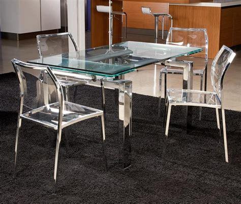 chaise de salle  manger transparente
